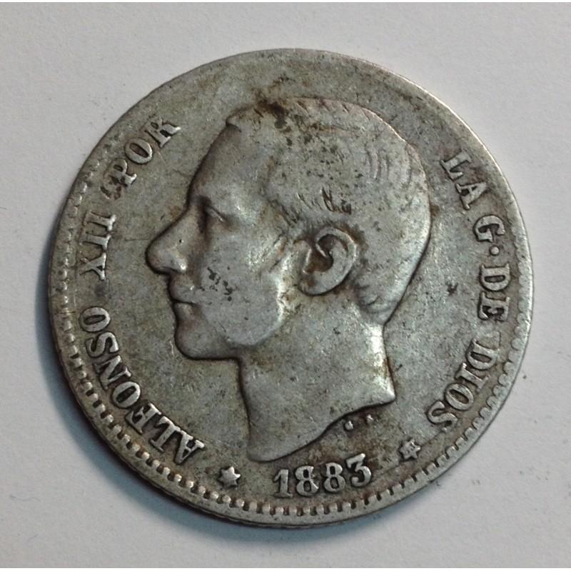 1 PESETA ALFONSO XII 1883 *83 MSM