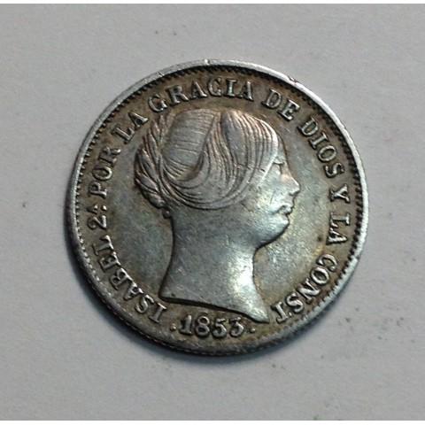 1 REAL ISABEL II 1853 BARCELONA