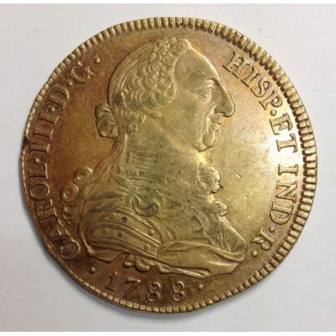 8 ESCUDOS CARLOS III 1788 POPAYÁN