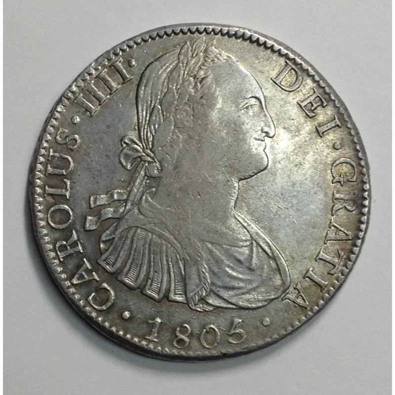 8 REALES CARLOS IV MÉJICO 1805