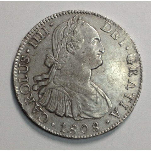 8 REALES CARLOS IV MÉJICO 1808