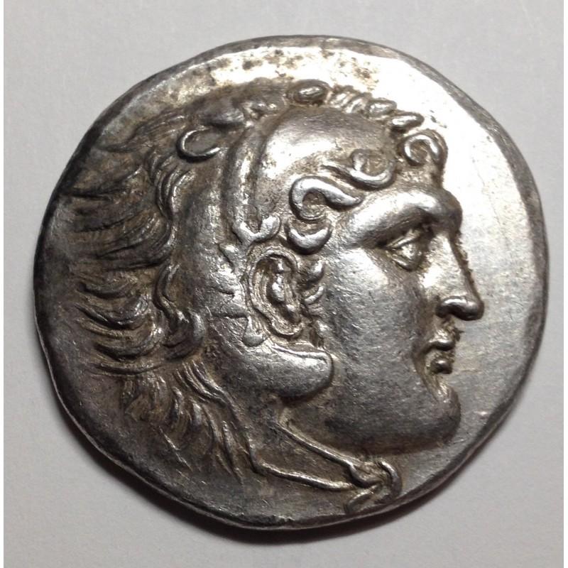 Resultat d'imatges de cabeza de alejandro el grande moneda griega