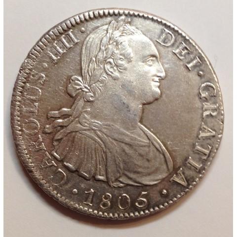 8 REALES CARLOS IV 1805 MÉJICO