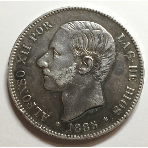 5 PESETAS ALFONSO XII 1885 87* MSM