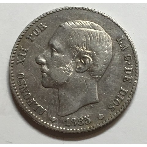 1 PESETA ALFONSO XII 1885 86* MSM