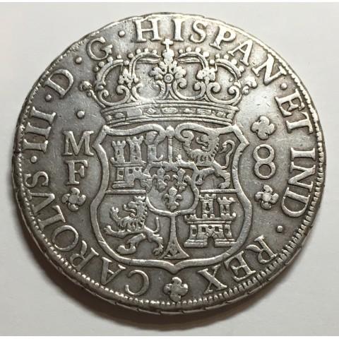 8 REALES CARLOS III MEJICO 1764 (COLUMNARIO)