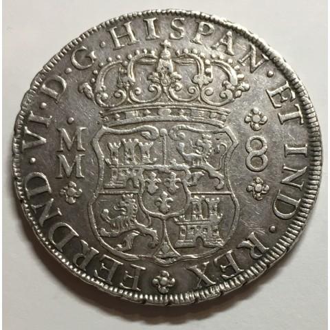 8 REALES FERNANDO VI MEJICO 1758 (COLUMNARIO)