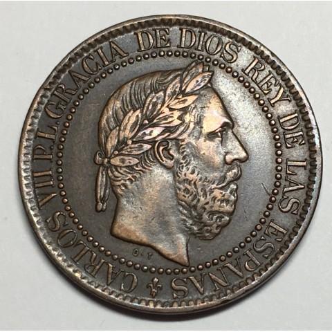 10 CÉNTIMOS DE PESETA CARLOS VII1875 BÉLGICA