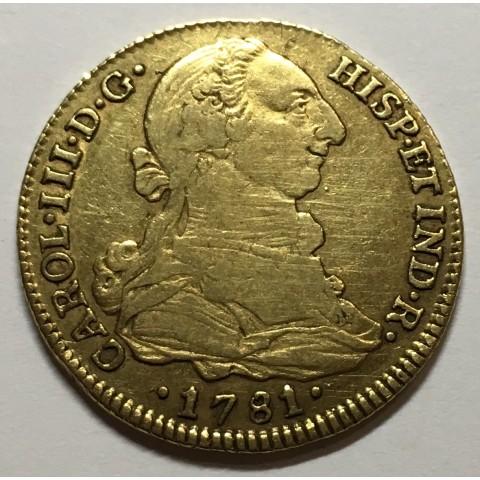 4 ESCUDOS CARLOS III 1781 SEVILLA