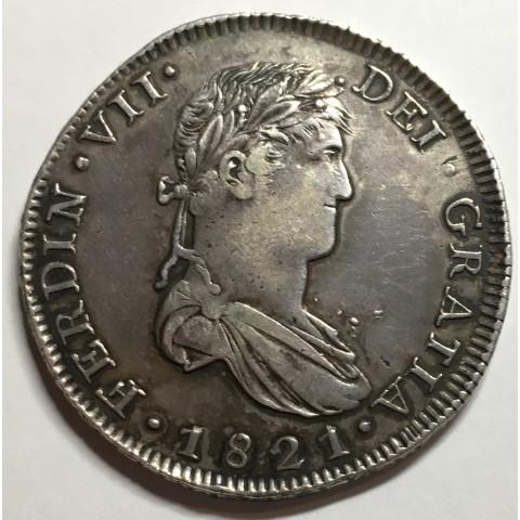 8 REALES FERNANDO VII ZACATECAS 1821
