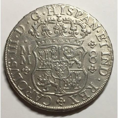 8 REALES CARLOS III MEJICO 1761 (COLUMNARIO)