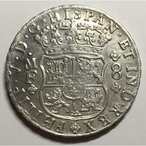 8 REALES FELIPE V 1742 MEJICO (COLUMNARIO)