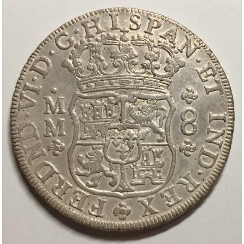 8 FERNANDO VI 1756 MEJICO (COLUMNARIO)