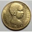 20 PESETAS ALFONSO XIII 1890 90*