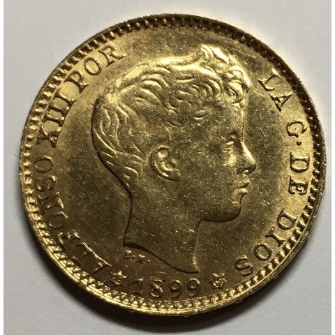 20 PESETAS ALFONSO XIII 1899 99*