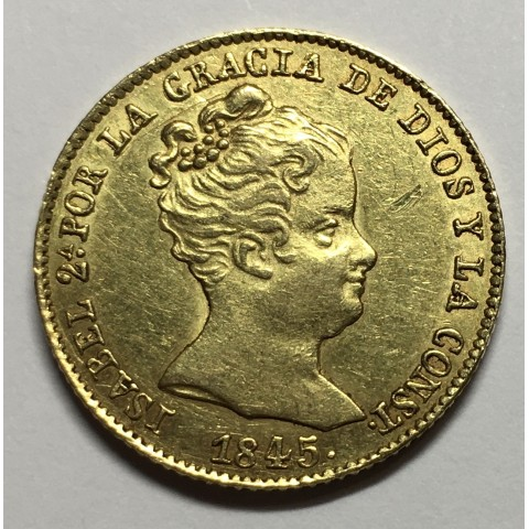 80 REALES ISABEL II 1845 BARCELONA