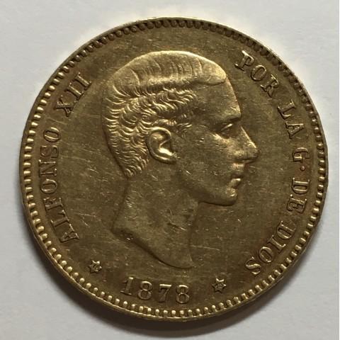 25 PESETAS ALFONSO XII 1878 78*