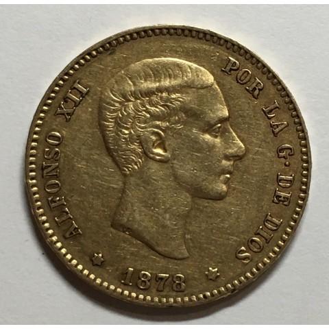 25 PESETAS ALFONSO XII 1878
