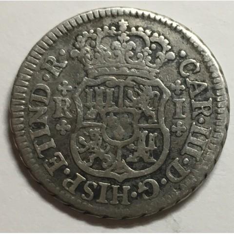 1 REAL CARLOS III 1763 MEJICO