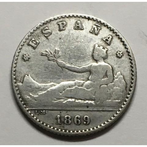 50 Céntimos Gobierno Provisional 1869*69