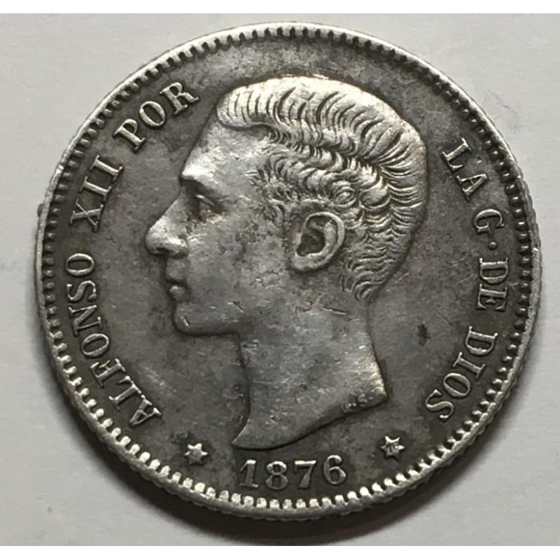 1 PESETA ALFONSO XII 1876 76*