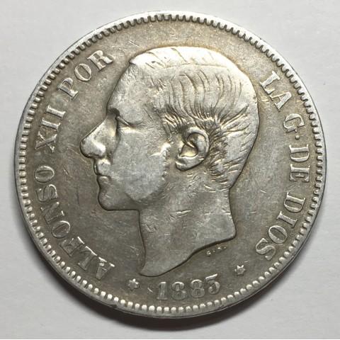 5 PESETAS ALFONSO XII 1883 83* MSM