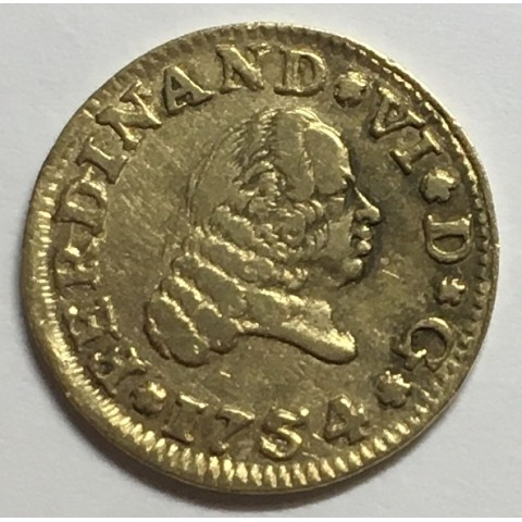 1/2 ESCUDO FERNANDO VI 1754 SEVILLA