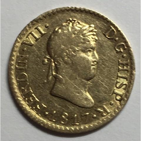 1/2 ESCUDO FERNANDO VII 1817 MADRID