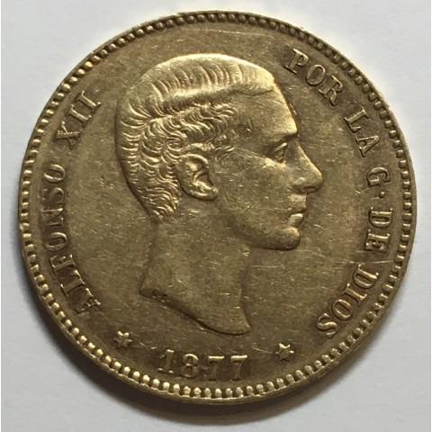 25 PESETAS ALFONSO XII 1877 77*