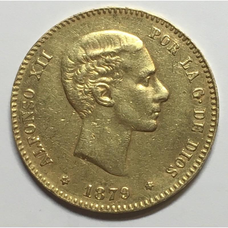 25 PESETAS ALFONSO XII 1879