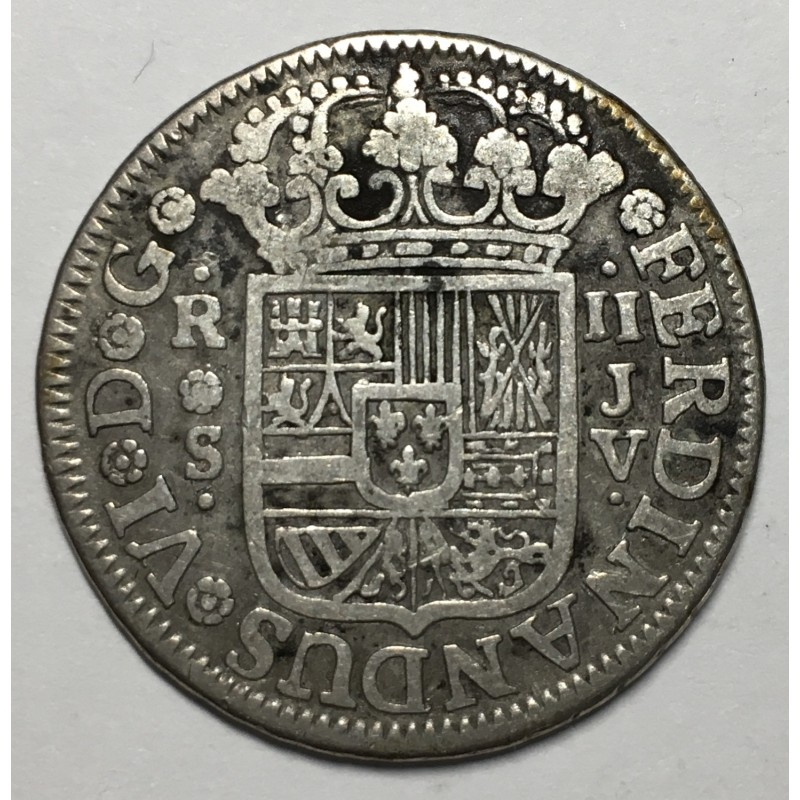 2 REALES FERNANDO VI 1758 SEVILLA