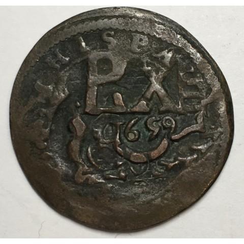 8 MARAVEDIS FELIPE III (resello FELIPE IV 1659) SEGOVIA