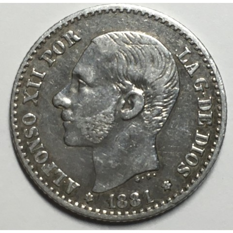 50 CENTIMOS ALFONSO XII 1881 81*