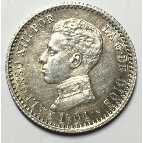 50 CENTIMOS ALFONSO XIII 1904 04*