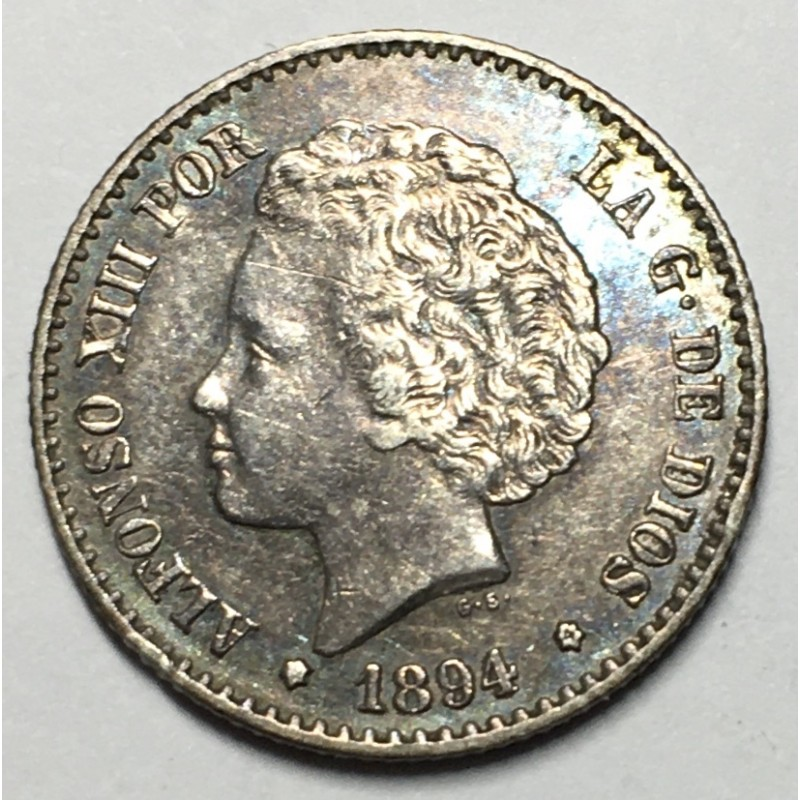 50 CENTIMOS ALFONSO XIII 1894 94*