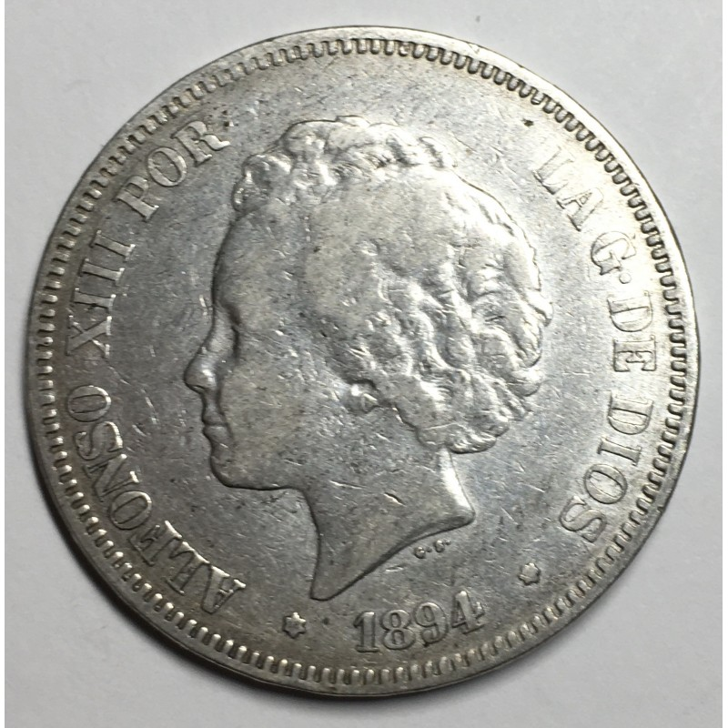 5 PESETAS ALFONSO XIII 1894 94*
