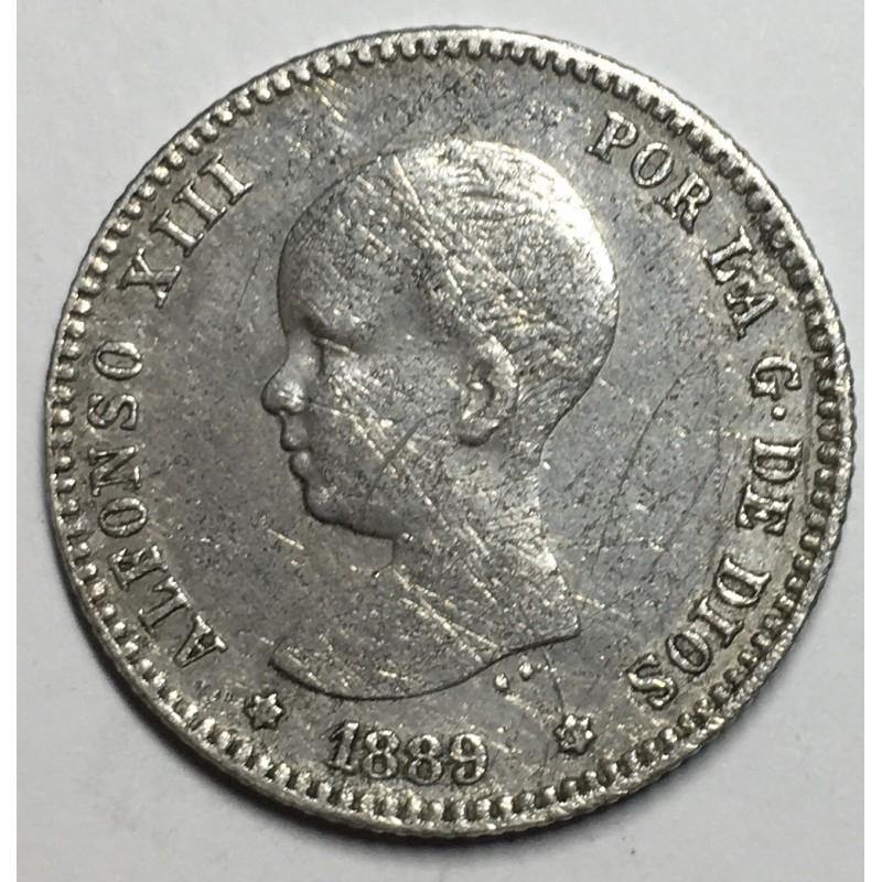 1 PESETA ALFONSO XIII 1889 89*