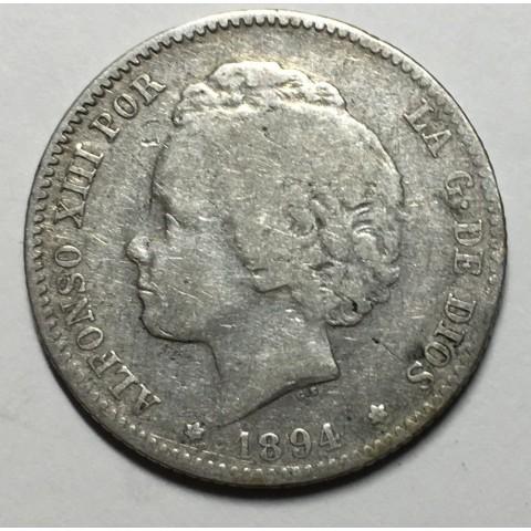 1 PESETA ALFONSO XIII 1894 94*
