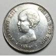 2 PESETAS ALFONSO XIII 1889 89*