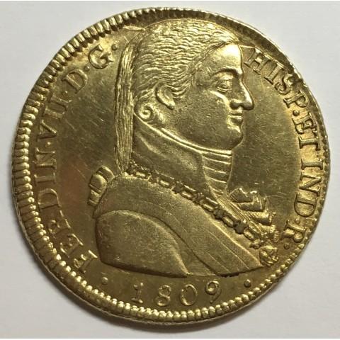 8 ESCUDOS FERNANDO VII 1809 SANTIAGO DE CHILE (tipo Almirante ) RARA
