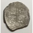 4 REALES FELIPE II 1594 GRANADA (Macuquina) Rara