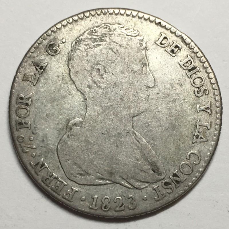 4 REALES FERNANDO VII 1823 VALENCIA