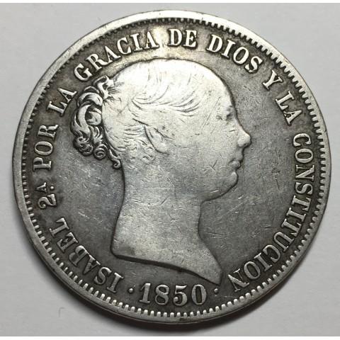 20 REALES ISABEL II 1850 MADRID