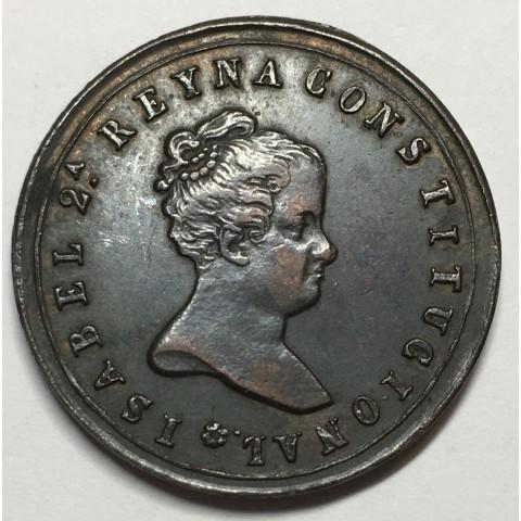 MEDALLA FERROL ISABEL II 1843 JUBIA