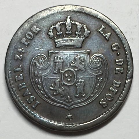 DÉCIMA DE REAL ISABEL II 1853 SEGOVIA