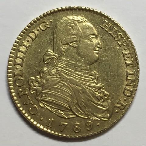 2 ESCUDOS CARLOS IV 1789 MADRID