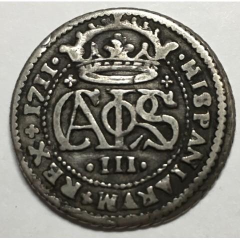 2 REALES CARLOS III (el pretendiente) 1711 BARCELONA