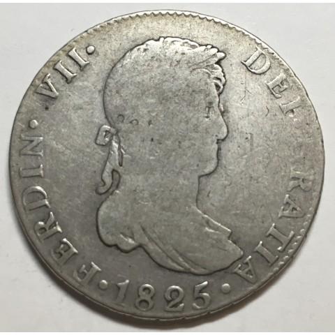 4 REALES FERNANDO VII 1825 SEVILLA rara