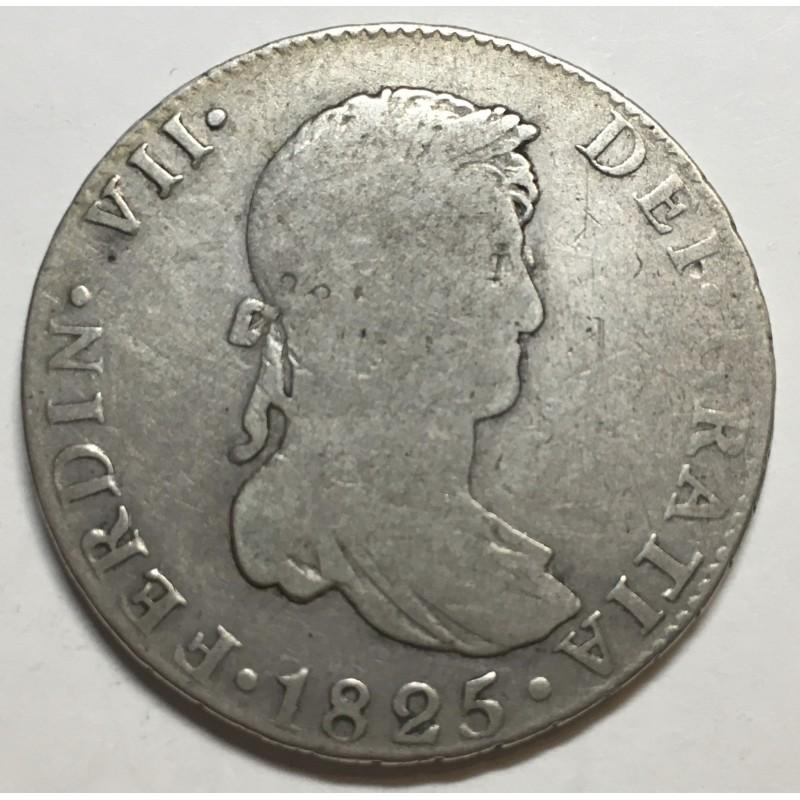 4 REALES FERNANDO VII 1825 SEVILLA