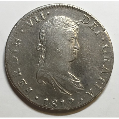 8 REALES FERNANDO VII 1819 MEJICO